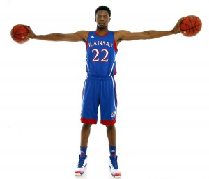 Andrew Wiggins Photo credit Jeff Jacobsen/Kansas Athletics.