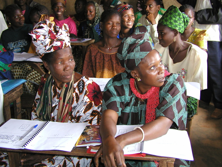 Adult literacy class in Guinea,Photo by Katie Saul