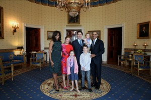 USA President Obama and First Lady Michelle with Prime Minister Justin Trudeau Family  in the White House Photo Credit: Adam Scotti – Photographer – Prime Minister's Office